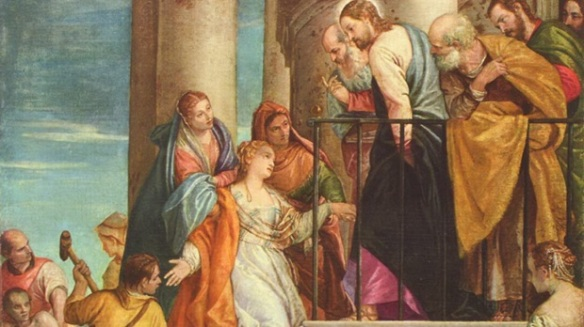 Christ and the Woman with the Issue of Blood - Paolo Veronese