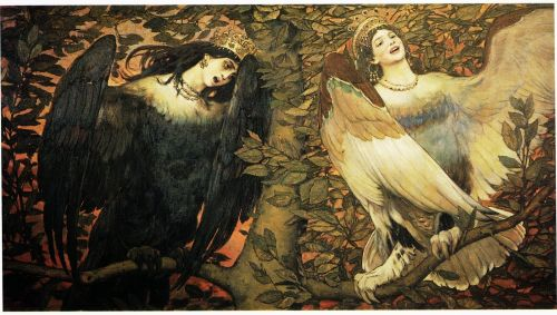 Sirin and Alkonost The Birds of Joy and Sorrow 1896 Viktor Vasnetsov