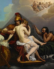 Image- Mars and Venus Surprised by Vulcan by Alexandre Charles Guillemot (1827)