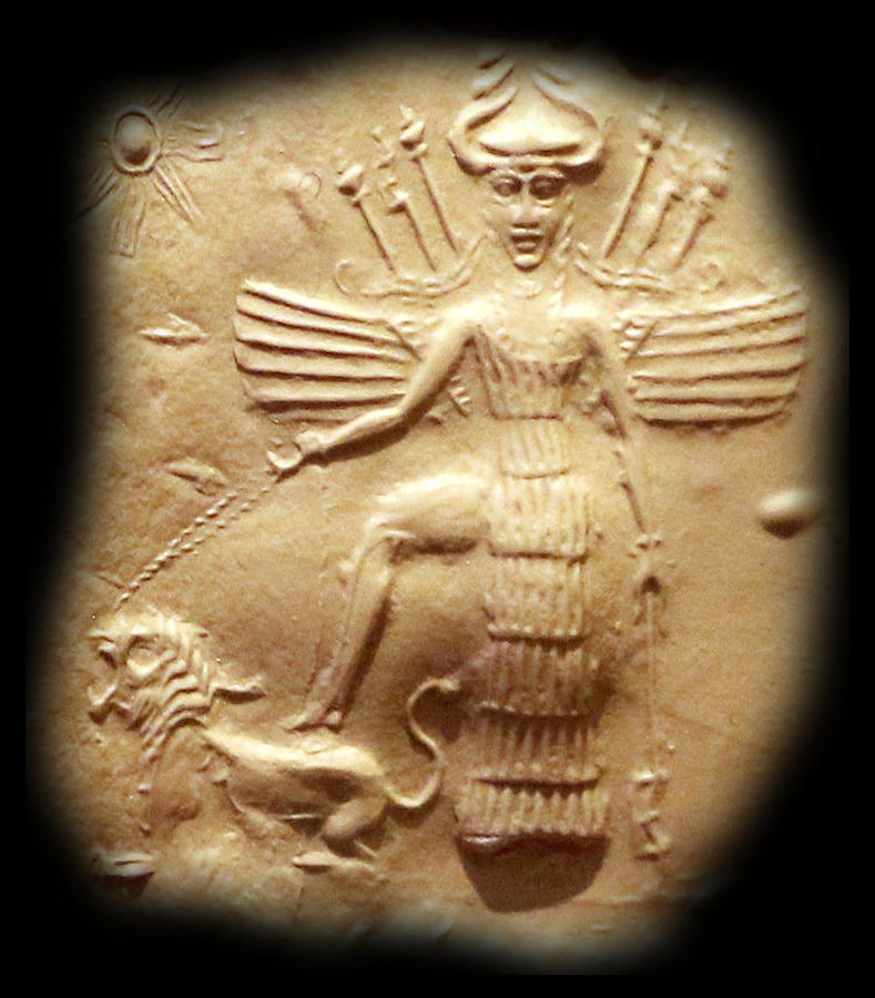 akkadian-goddess-ishtar-on-a-seal-2350-to-2150-bc-tom-hill